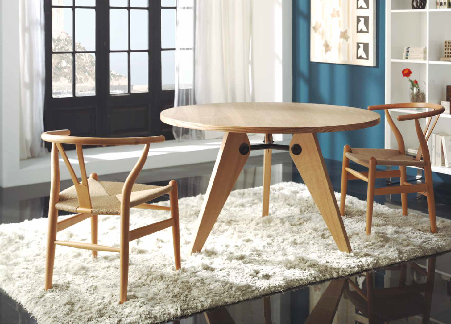 Mesa de comedor redonda 120 cm for Muebles escandinavos online