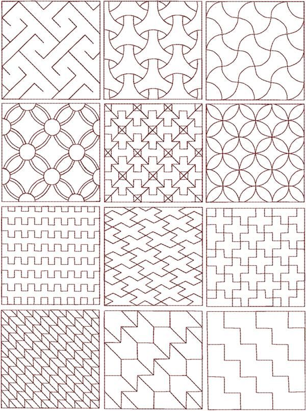 sashiko patterns | Geometry | Pinterest | Bordado, Bordado japonés ...