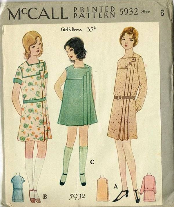1920s Toddler\'s Art Deco Dress Pattern Original Uncut McCall Design ...