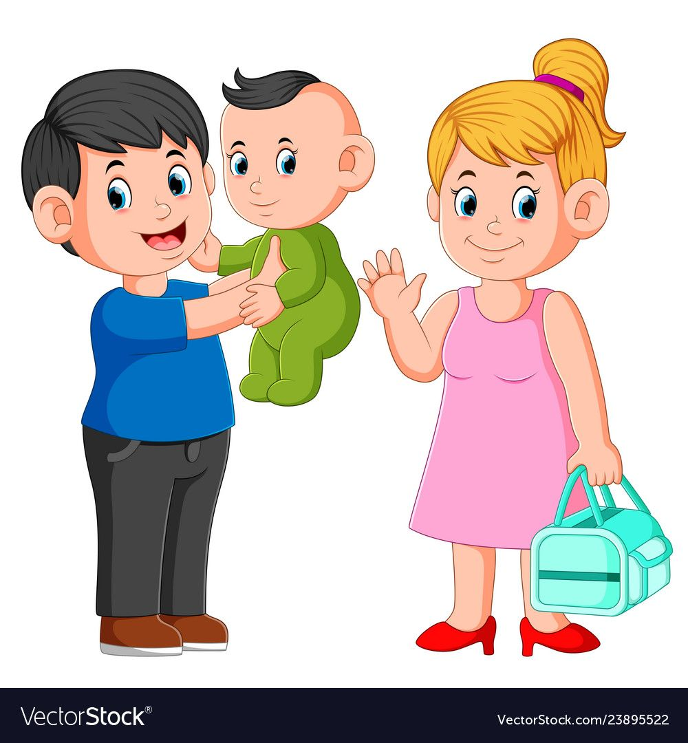 Illustration Of Smiling Mother And Father Holding Their Newborn Baby Download A Free Preview Or High Quality Ado Mother And Father Holding Baby Cartoon People