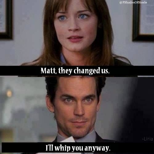 This Is Too Funny Alexis Bledel Matt Bomer Fifty Shades Of