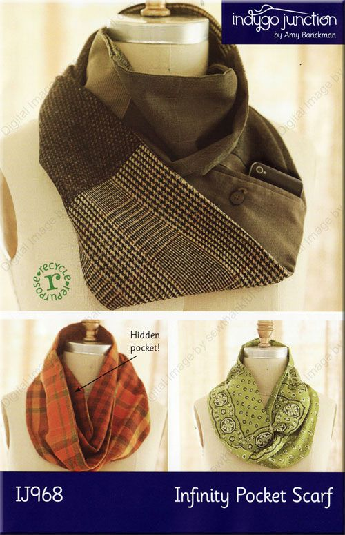 Free Infinity Scarf Sewing Pattern Infinity Pocket Scarf Sewing