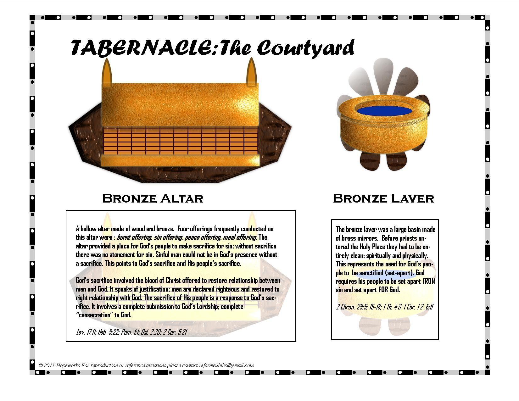 Tabernacle Items Of Worship Printable