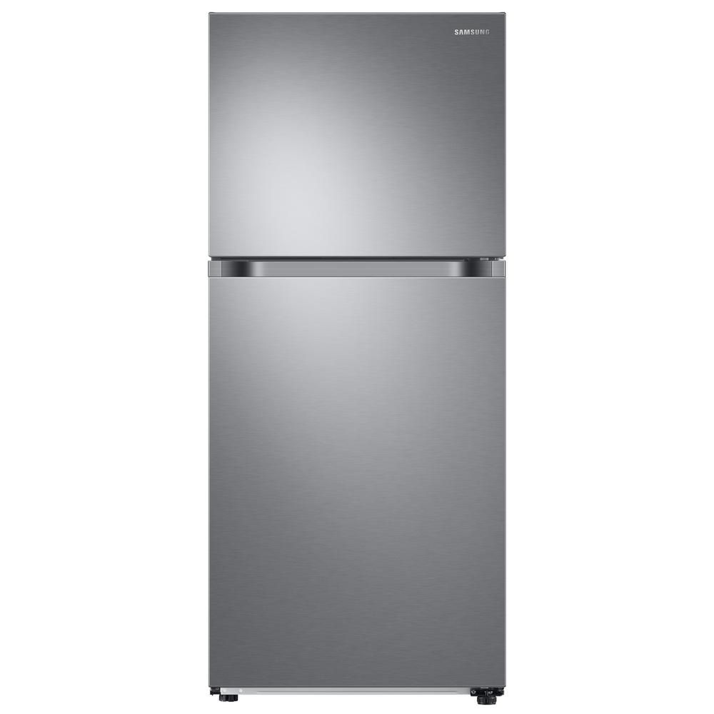 Samsung 17 6 Cu Ft Top Freezer Refrigerator With Flexzone Freezer In Stainless Energy Star Rt18m6213sr The Home Depot Top Freezer Refrigerator Stainless Steel Refrigerator Refrigerator