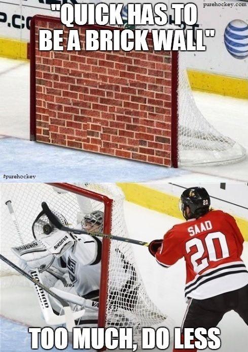 Jonathan Quick May Be Taking This Brick Wall Thing Too Literally