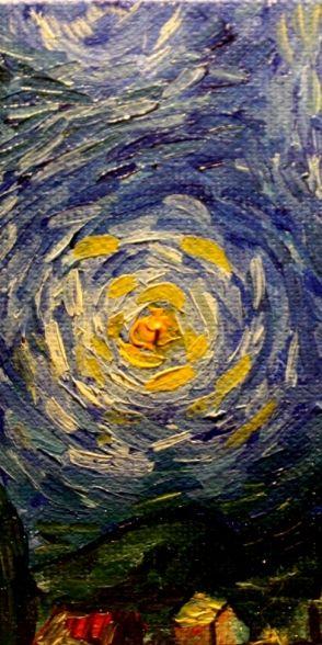 Van Gogh Starry night detail