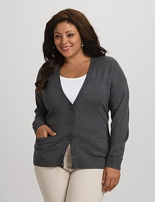 750461a89f6f8d roz & ALI™ Cashmerely™ Plus Size V-Neck Cardigan | Clothes I like ...