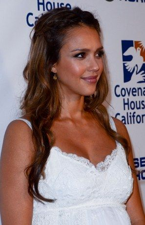 Jessica Alba Braided Half Up Half Down | MOB and ...