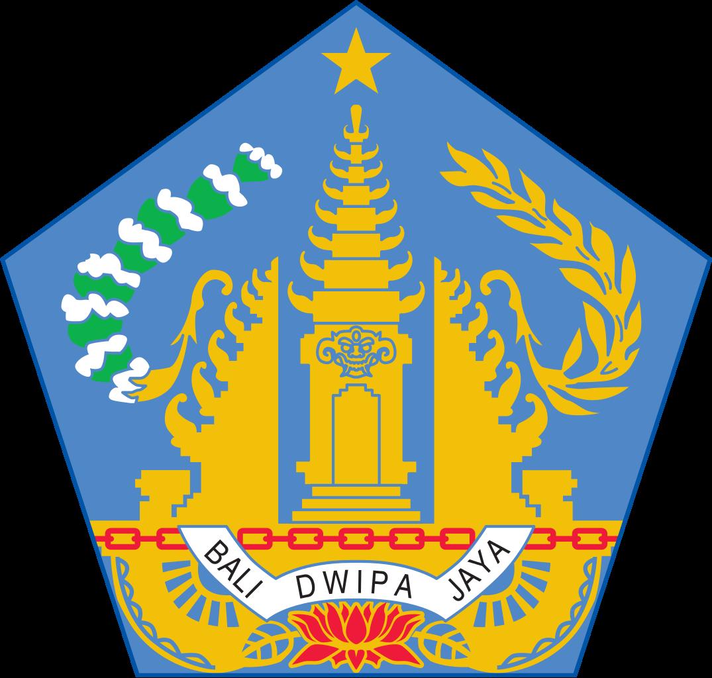 The Emblem Of Bali Province Displaying The Image Of The Gate Of Pura Balinese Temple Towering Kori Agung And Candi Bentar S Bali Cerita Rakyat Dan Jaya