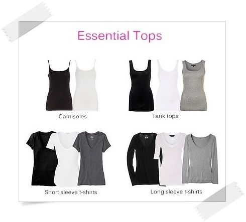 beauty fashion clothing wardrobe basics checklist
