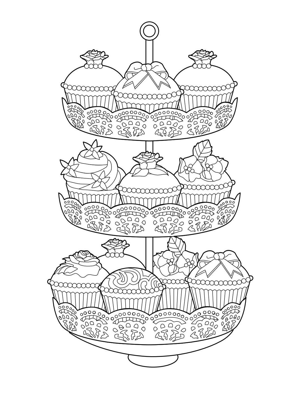 Elegant Tea Party Coloring Book | Adult Coloring Pages | Coloring ...