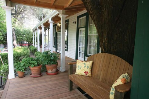 Curved Porch Bench.