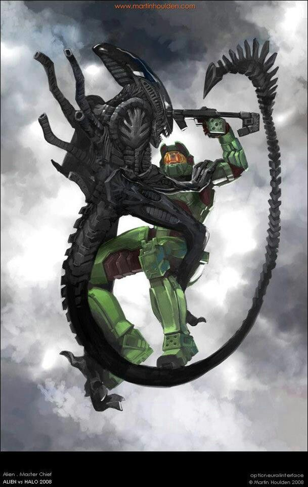 Master chief vs xenomorph - So many things about this are ...  Master chief vs...