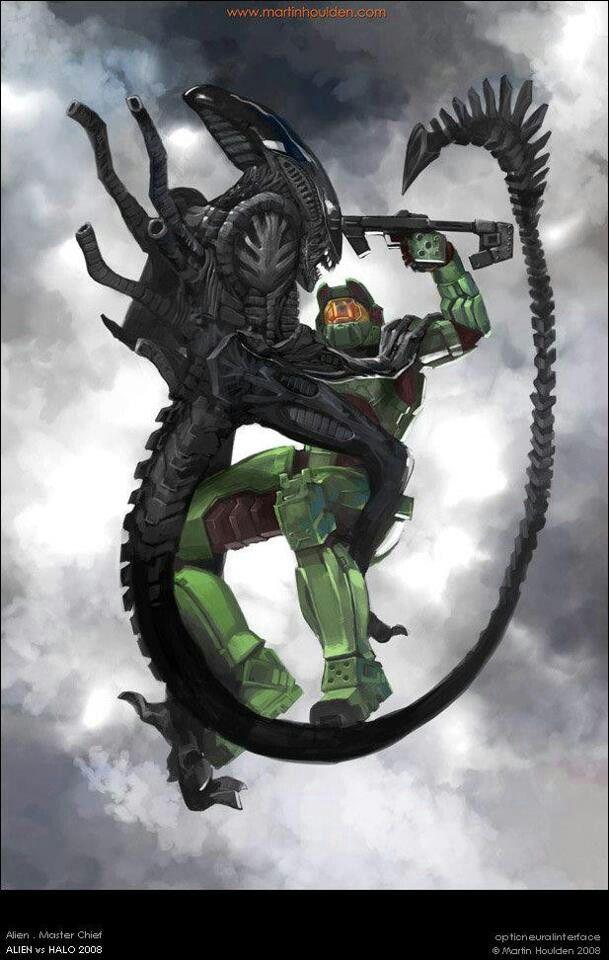 Master chief vs xenomorph | Predator/Aliens♥! | Pinterest ...