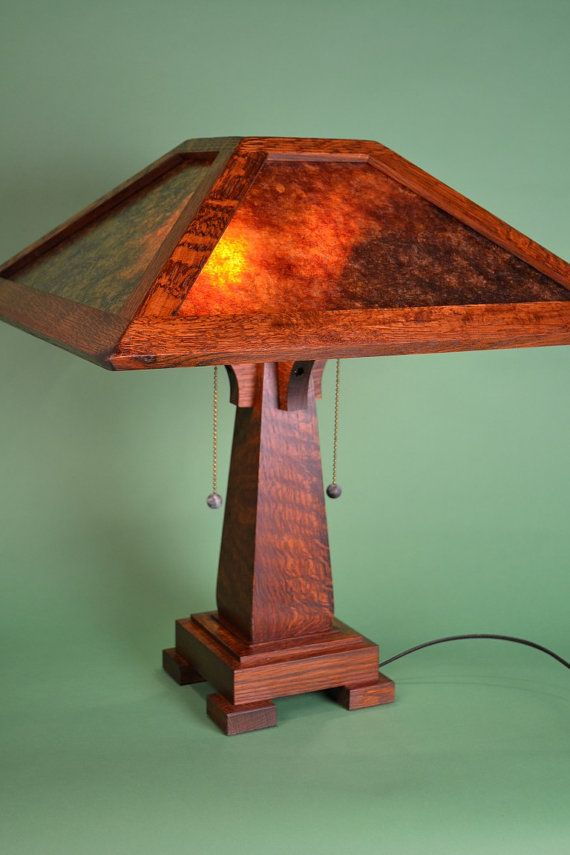 This Arts And Crafts Mission Style Mica Table Lamp Etsy Craftsman Lamps Craftsman Style Furniture Mission Style Floor Lamps