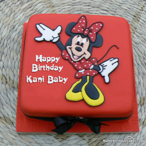 Minnie Mouse Birthday Cakes With Photo And Name kani baby