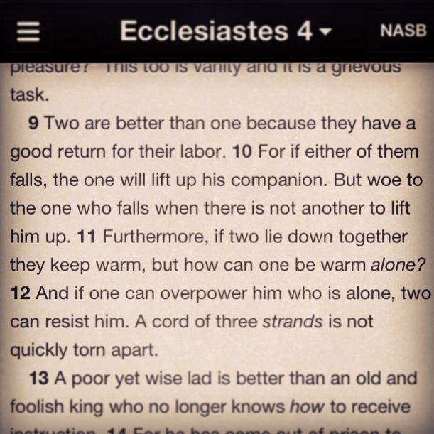 Ecclesiastes 4 9 12 Love This Verse Husband Wife