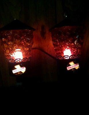Vintage set of 2 falstaff beer pub wall lights sconces aloadofball Gallery