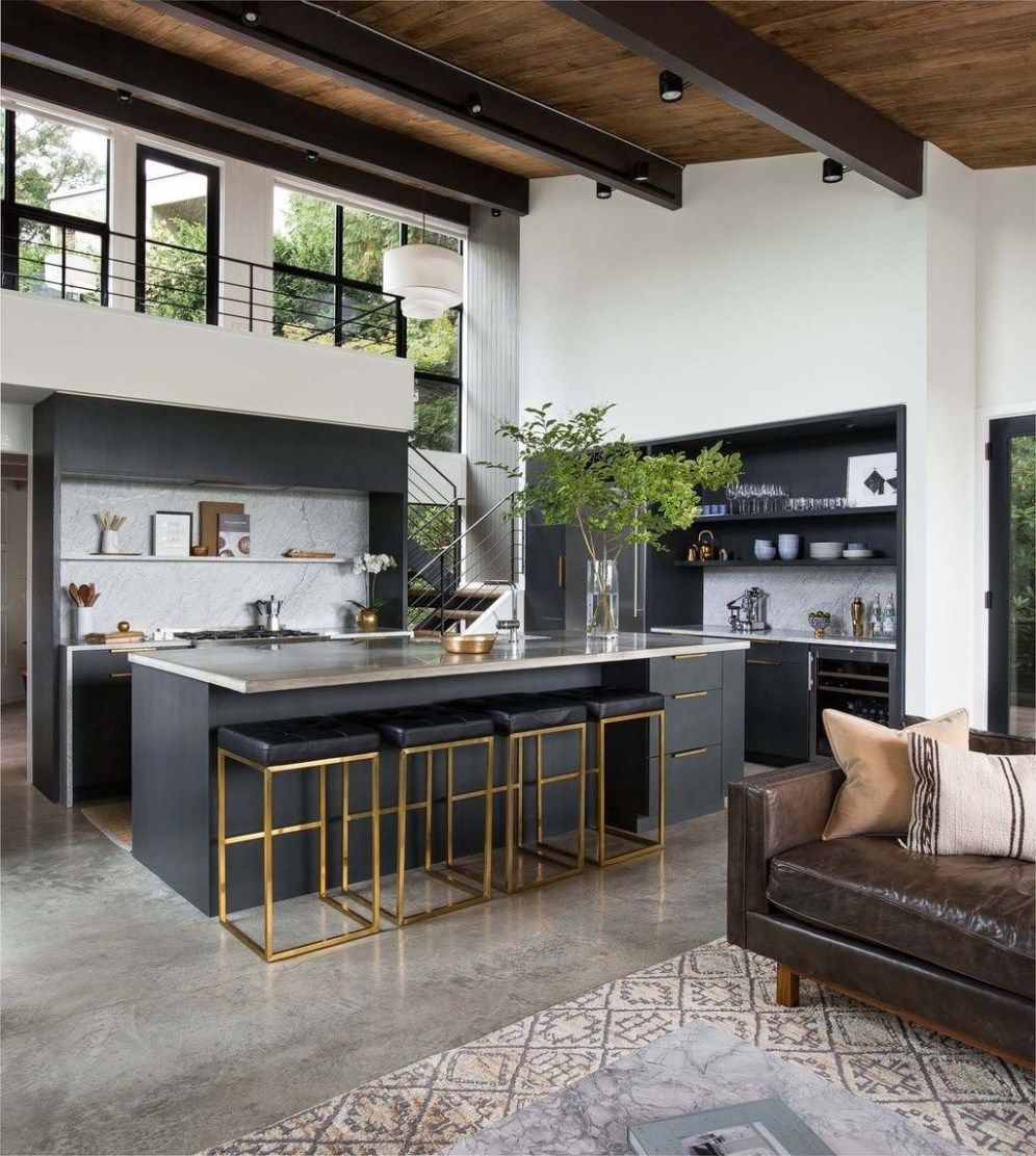 What A Beautiful Mix Of Dark Moody Glam And Inviting By: Most Popular Modern Kitchen Design Ideas 19