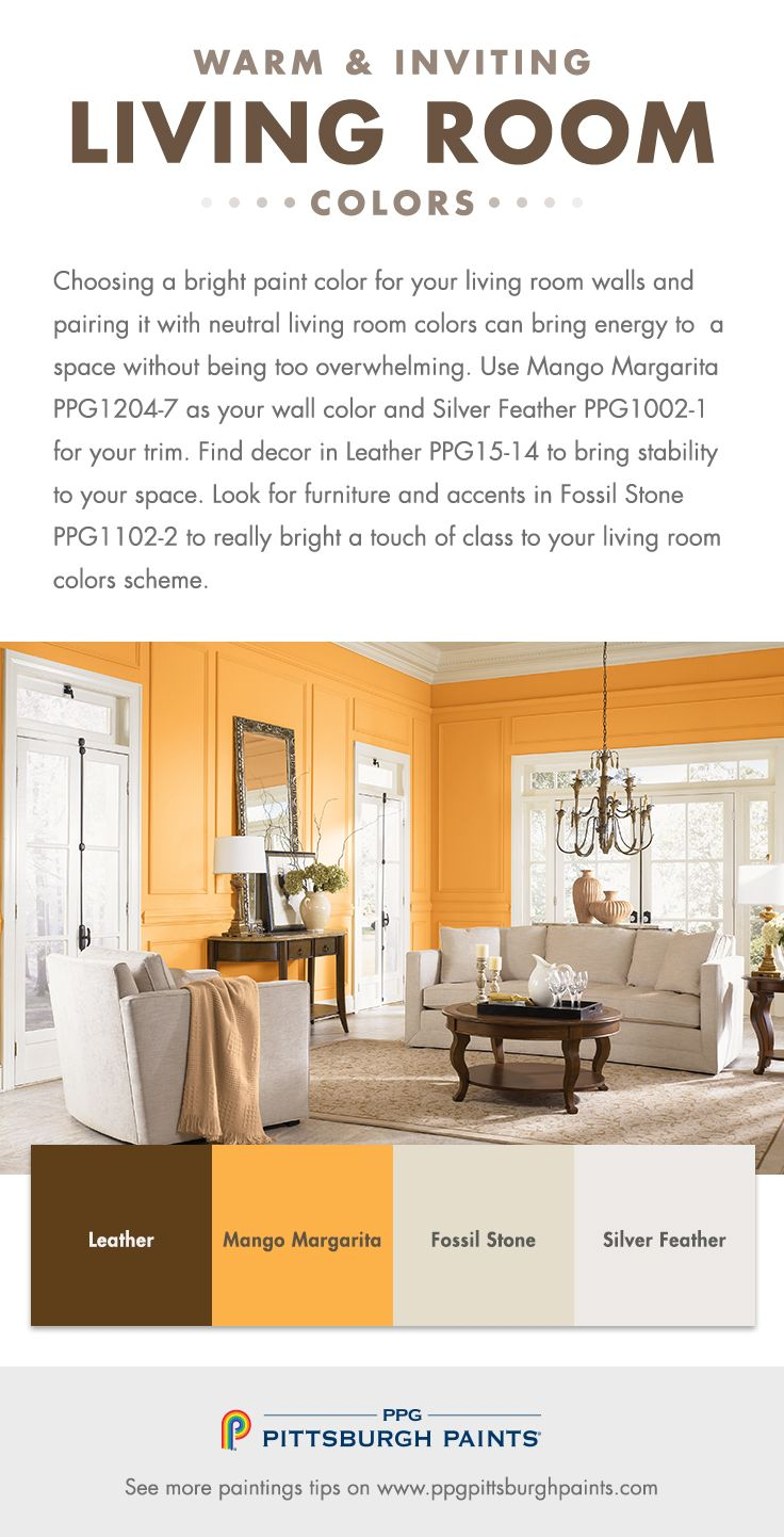 How To Choose The Best Living Room Colors? | Bright paint colors ...