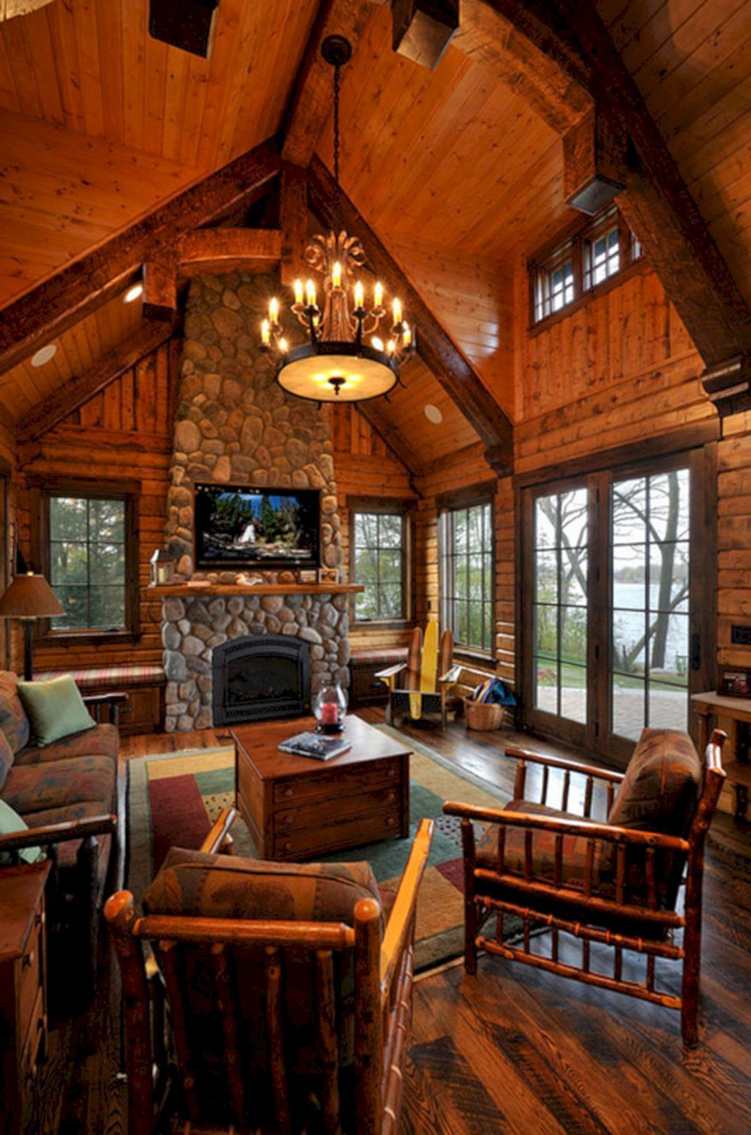 09 Best Cabin Style Interior Inspirations in 2020 | Log ...