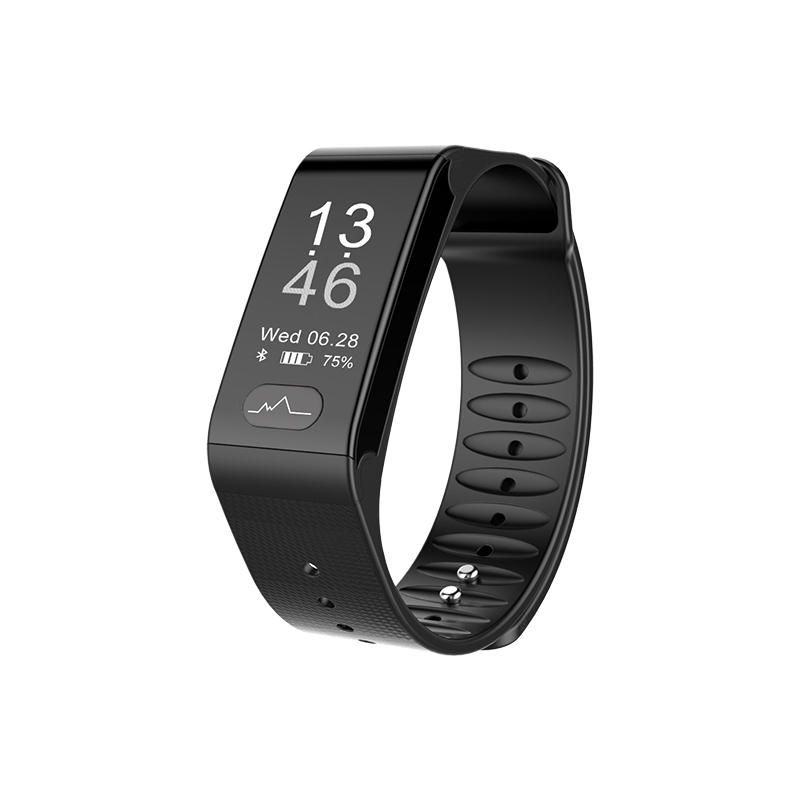 Duseco Smart Fitness Tracker Heart Rate Bluetooth Text Music Sleep Calorie Distance Step Counter Call Alerts Camera Control 4.0 Water Proof App for Android and iOS Bracelet Wristband