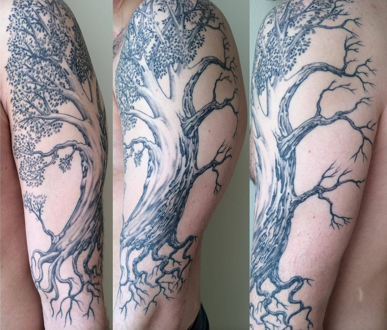 Half Dead Half Alive Tree Tree Tattoo Designs Good And Evil Tattoos Tattoo Designs And Meanings