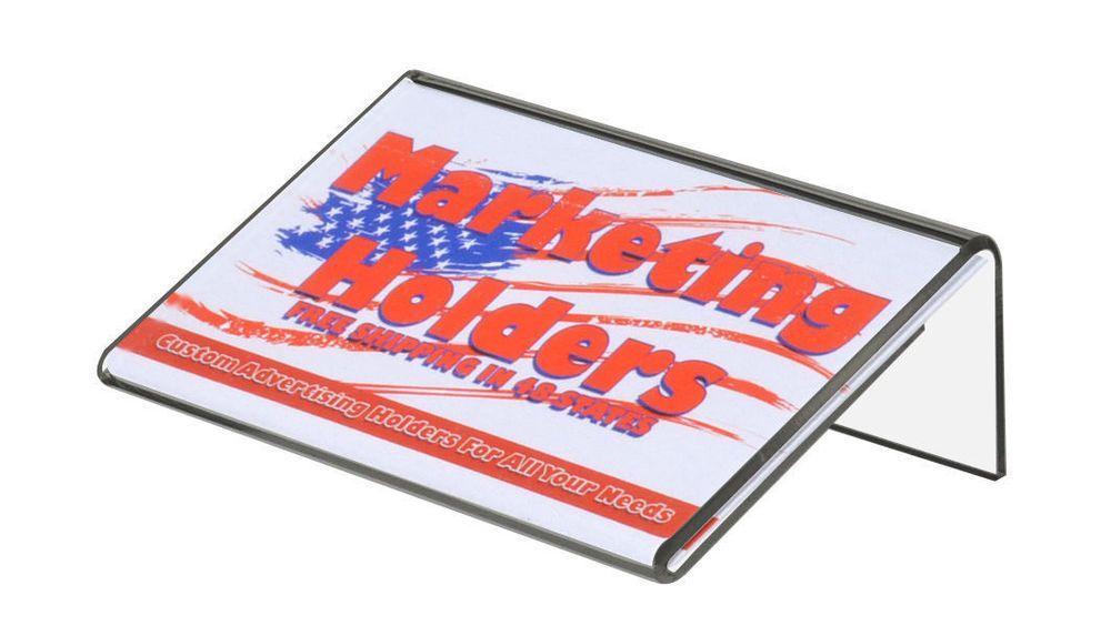 Single Business Card Holder Frame Display Slant back 3.5\