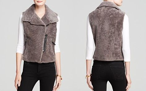 Maximilian Lamb Vest with Notch Collar -- Available in other colors