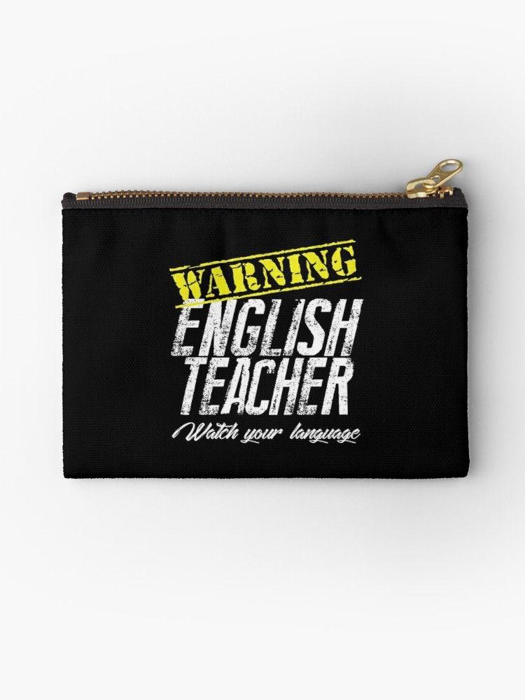 English Teacher Pun Gift – Warning Watch Your Language