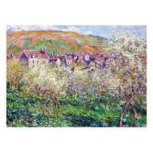 Flowering Plum Trees by Monet Giclee Print