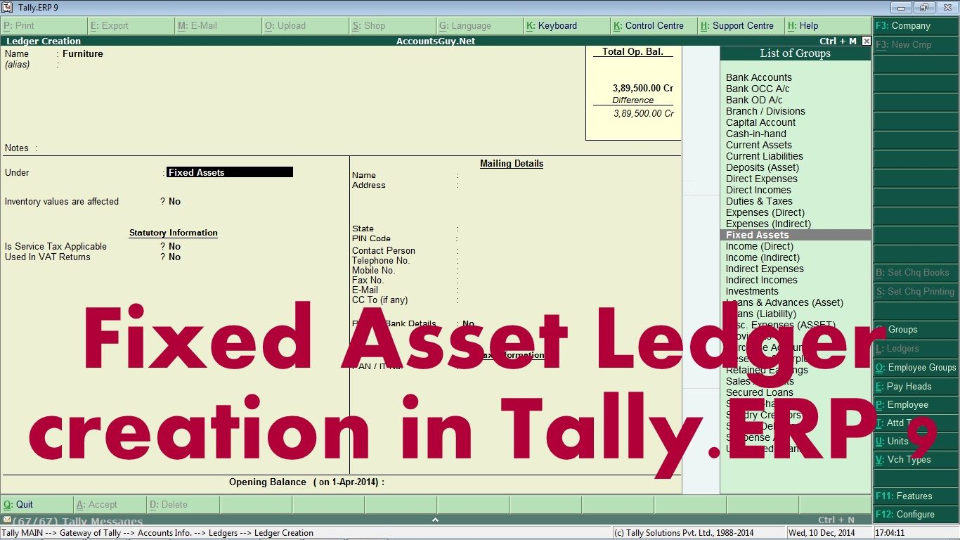 how to write a ledger account