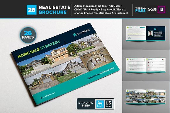 Real Estate Brochure Template By Layout Design Ltd On - Real estate brochure templates