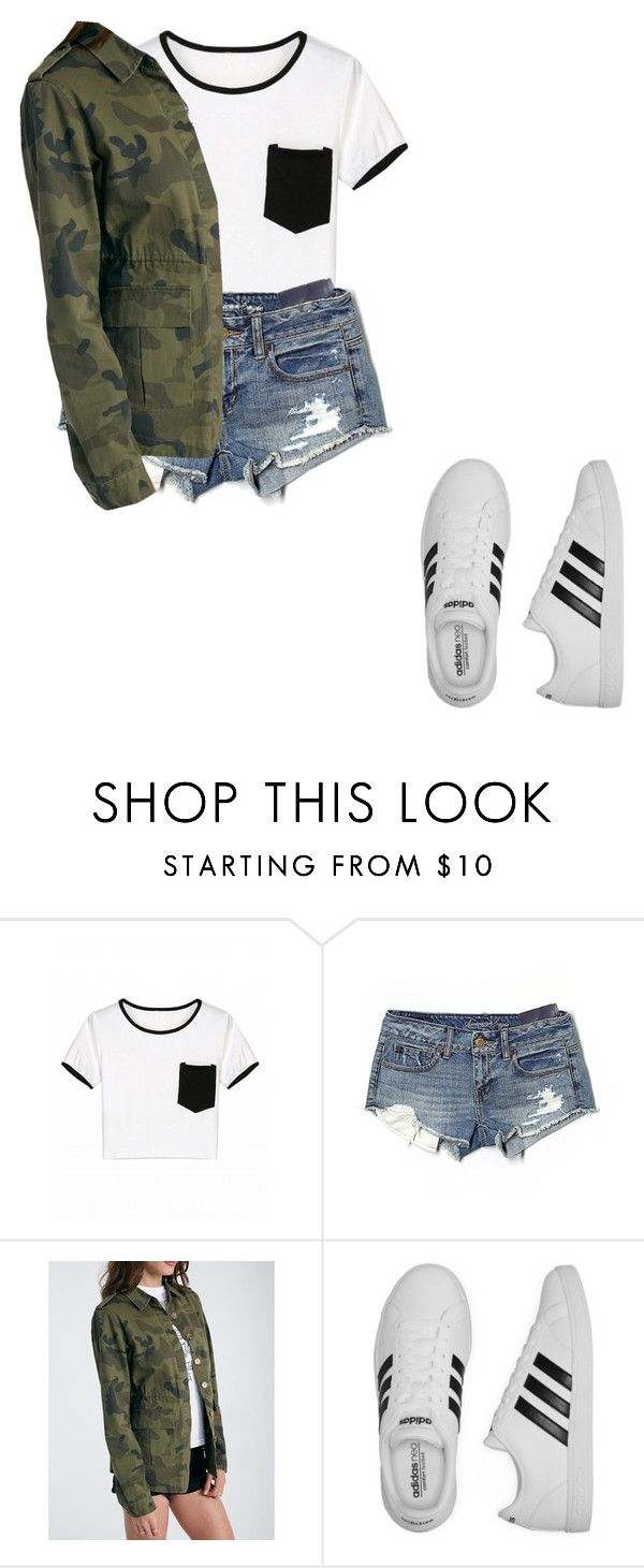 """Untitled #74"" by kaitlynandkaitlyn on Polyvore featuring American Eagle Outfitters and adidas"
