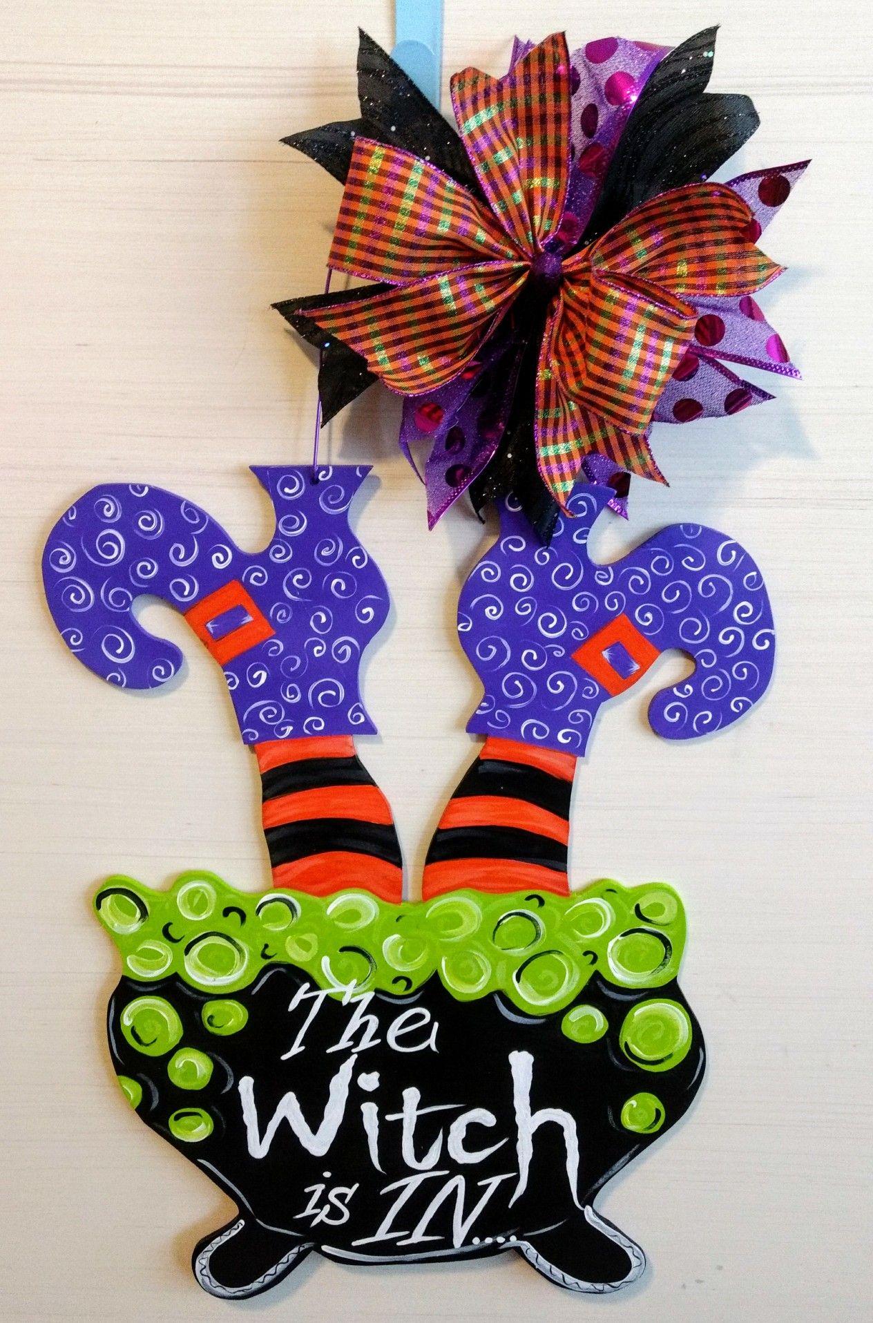 The Witch Is In Door Hanger Https Www Facebook Com Creative Hart By Jessie Halloween Door