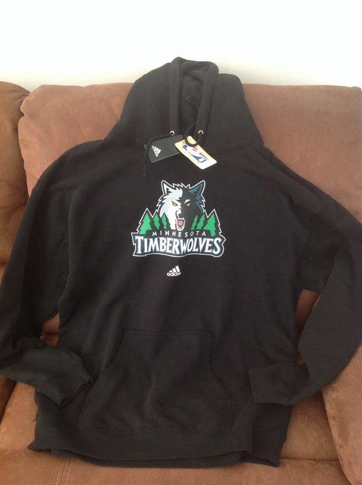 Adidas Minnesota Timberwolves Black Nba Hoodie Nwt Size 2xl Mens