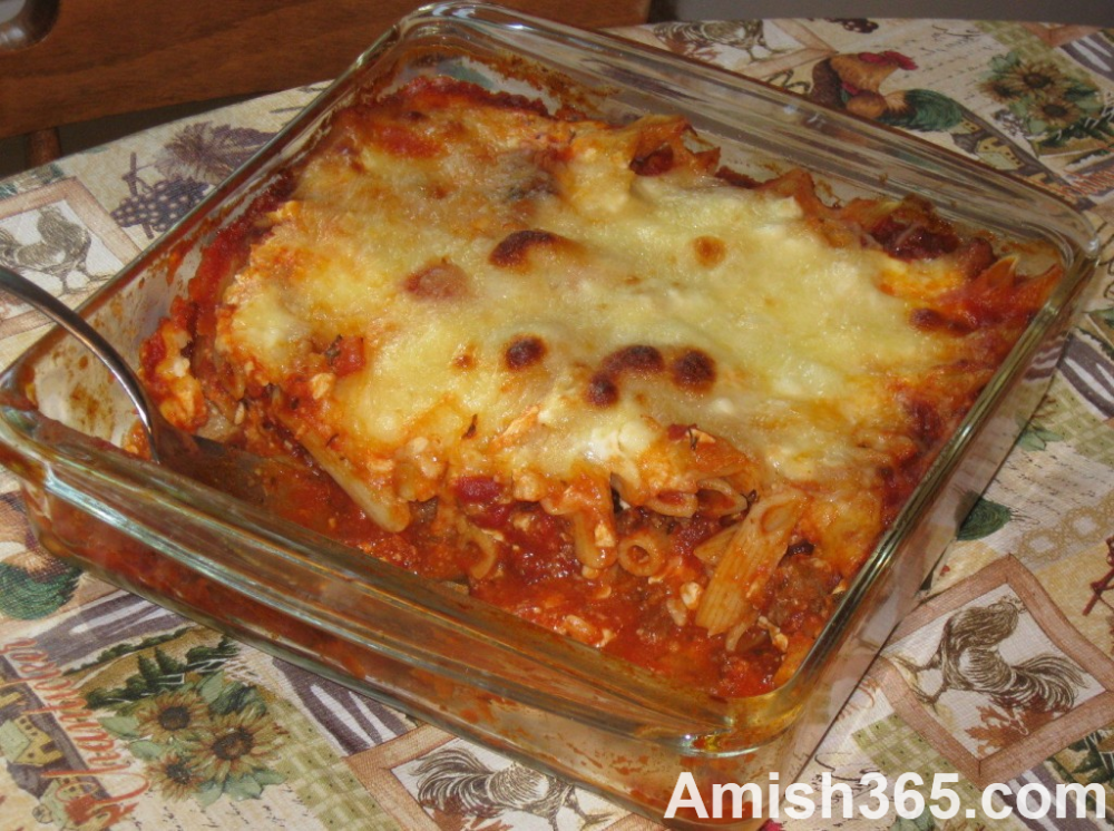 Italian Tuesday: Amish Rigatoni, Meatballs, Etc – Amish 365: Amish Recipes – Ami…