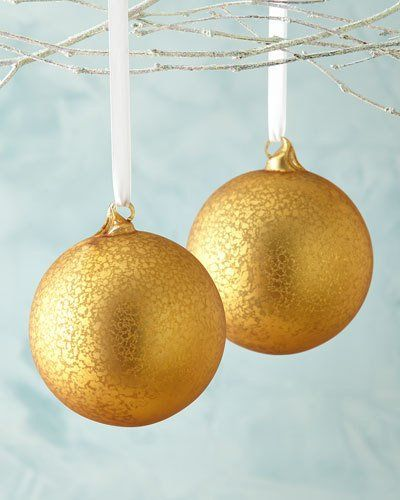 Mercury Glass Decorative Balls H8Hlp Jim Marvin Golden Mercuryglass Ball Christmas Ornaments