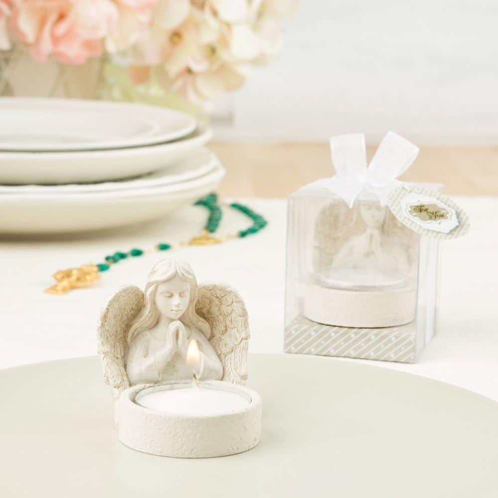 Beautiful Guardian Angel Design Candle Tea Light Holder ...