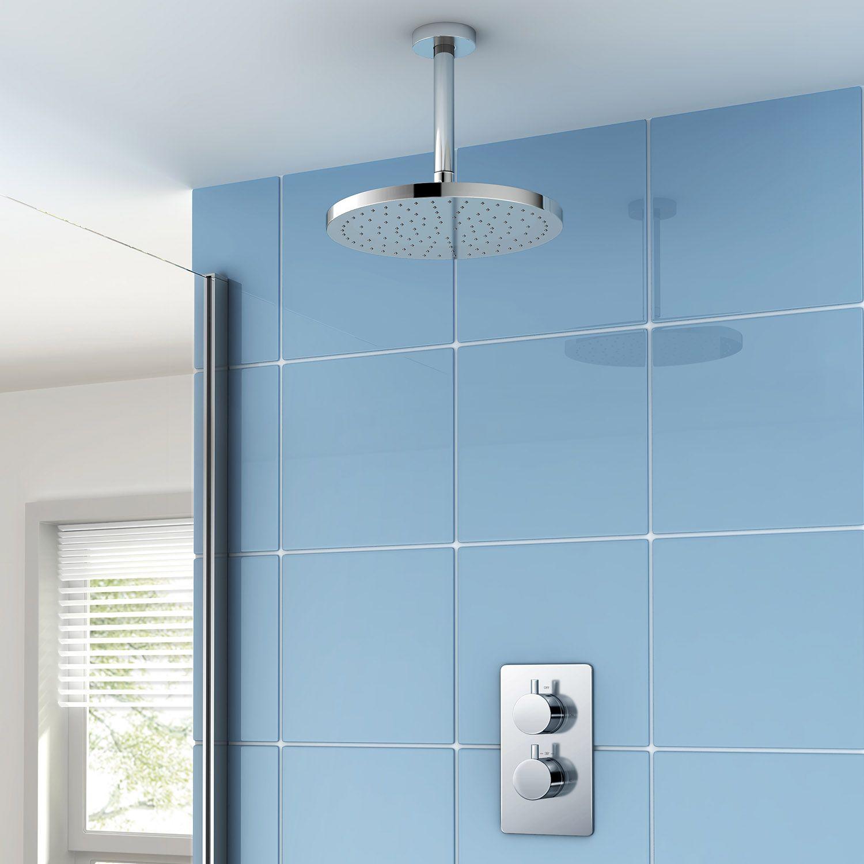 Thermostatic Mixer Shower Kit, 254mm Round Head | Nautical Bathroom ...