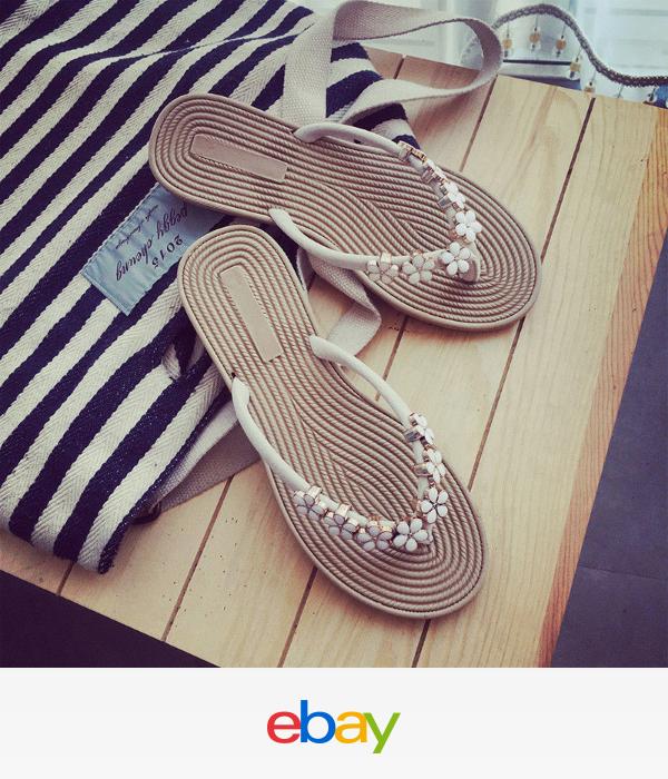 e10917367 Women Sandals Slipper Indoor Outdoor Ladies Summer Beach Flip Flops Shoes