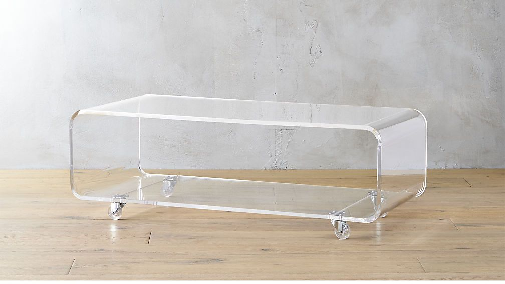 Cool Peekaboo Acrylic Media Console Coffee Table With Shelf Unemploymentrelief Wooden Chair Designs For Living Room Unemploymentrelieforg