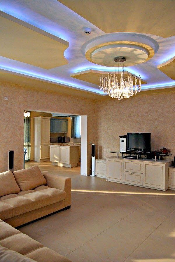 room led ceiling lighting in luxury living - Living Room Led Ceiling Lights