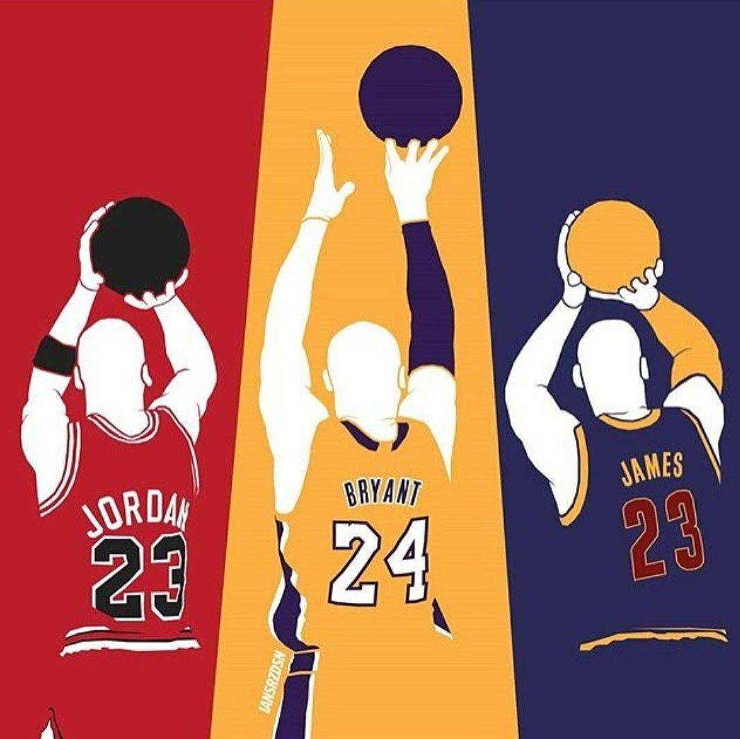 Michael Jordan Kobe Bryant Or Lebron James With Images Kobe