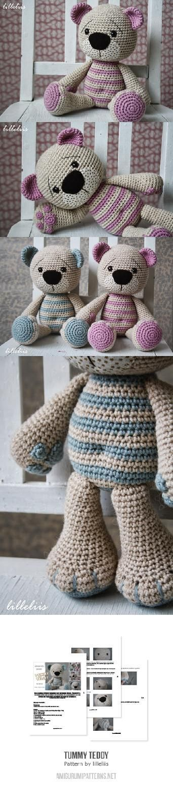 Tummy Teddy amigurumi pattern by lilleliis | Osos, Tejido y Patrones ...