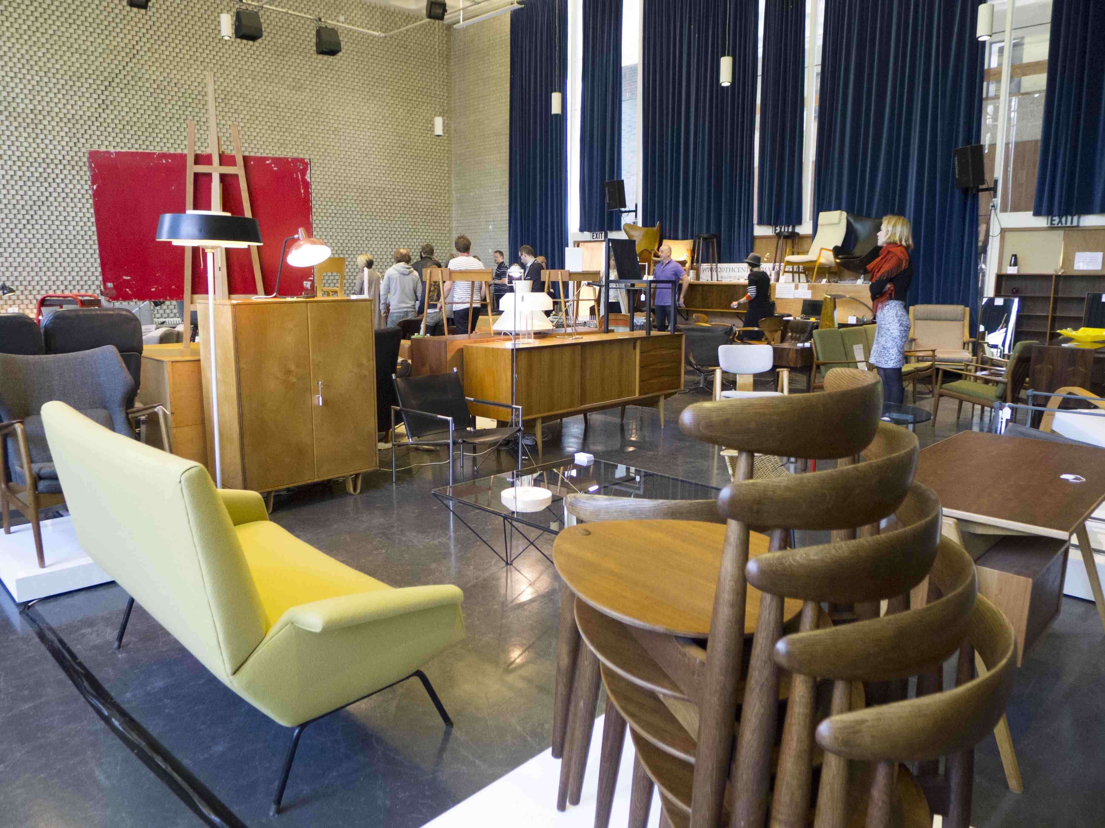 Midcentury show east at the erno goldfinger designed for Scandinavian furniture london