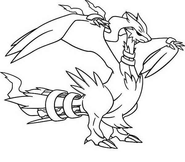 pokemon sawsbuck winter coloring pages | Pokemon Reshiram | Pokemon coloring, Pokemon coloring ...