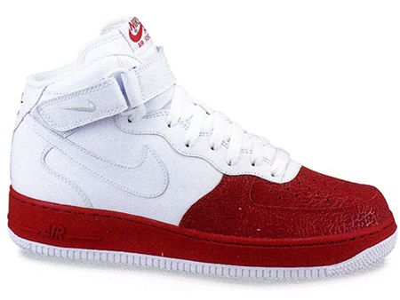 nike air force red and white