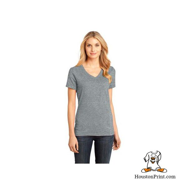 District Made Ladies Perfect Weight V Neck Tee Dm1170l Learn More