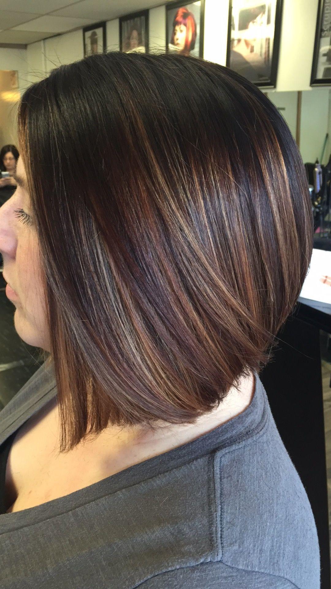 Mechas cabello corto morenas